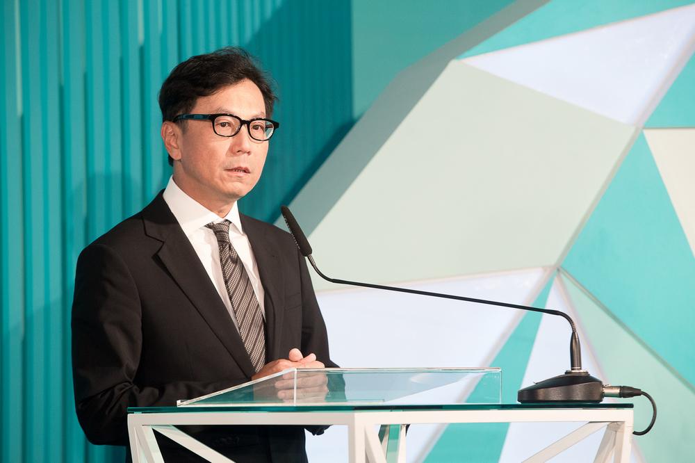 蔡總裁家族代表致詞 蔡明忠董事長